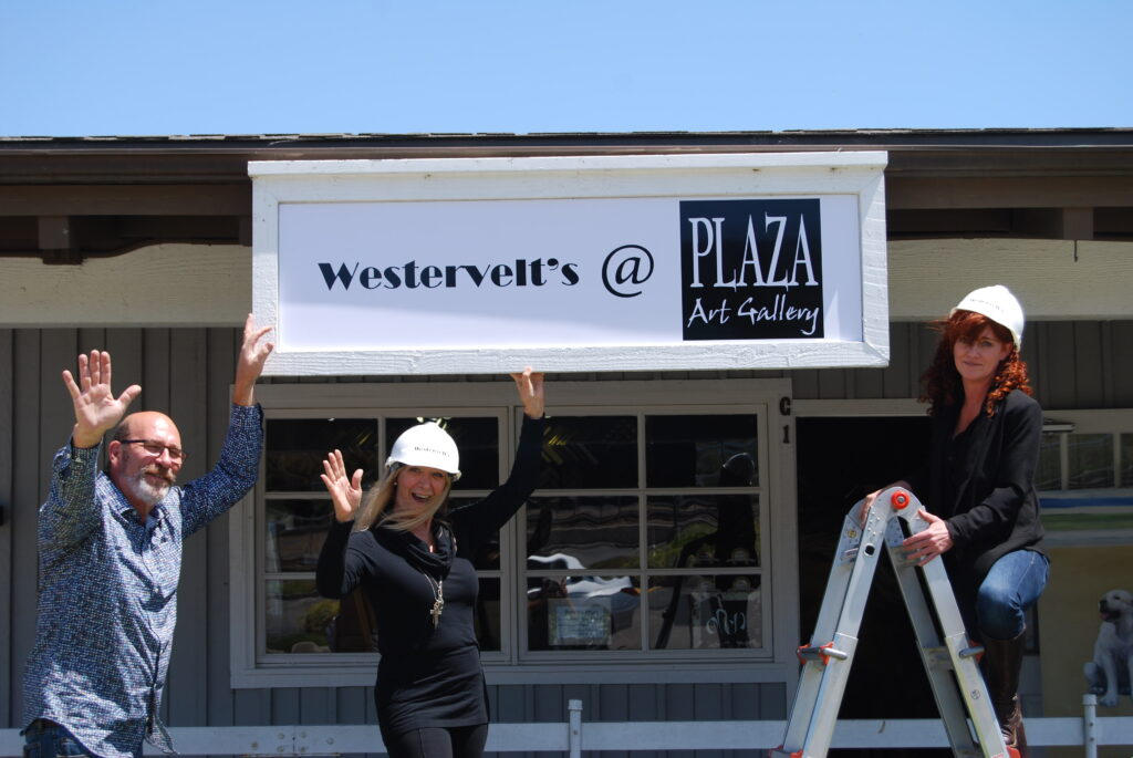 New Signage for Westervelt's Fine Art at Plaza Art Gallery and Framing