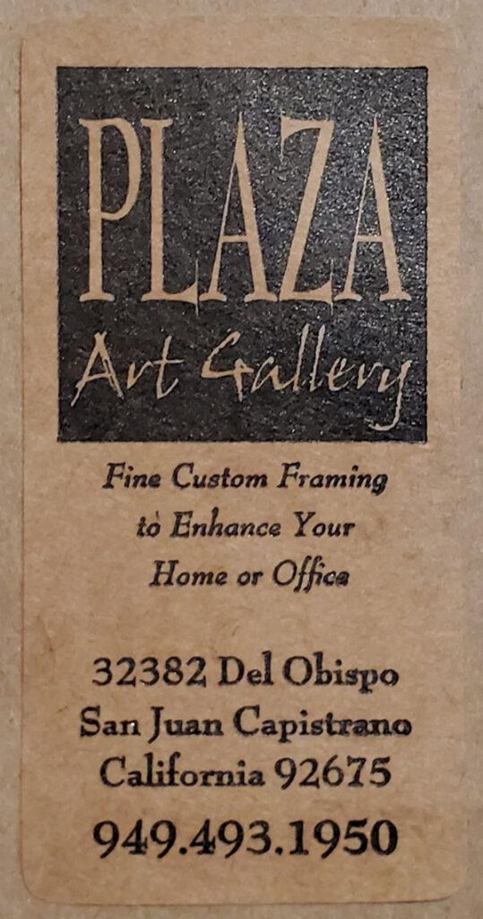 Plaza Art Gallery Frame Stcker